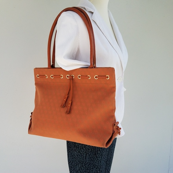 Dooney & Bourke Handbags - DOONEY &  BOURKE Signature Canvas Tote Terracotta